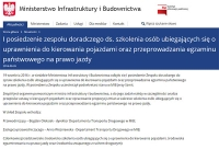 Komunikat Ministerstwa Infrastruktury i Budownictwa