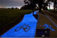 Mamy pierwszą świecącą ścieżkę rowerową