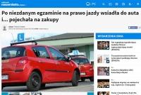 Po oblanym egzaminie… odjechała własnym samochodem