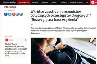 Minister Wójcik: będą bezwzględne kary pozbawienia wolności