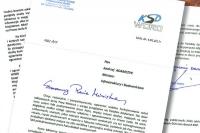 Szef KSD pisze do ministra