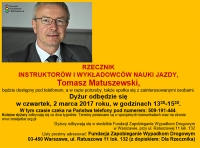 Dyżur Rzecznika Instruktorów i Wykładowców 2.3.2017 r.