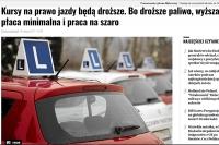 Cena szkolenia kandydatów na kierowców