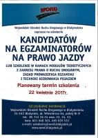 Zaproszenie na szkolenie dla przyszłych egzaminatorów