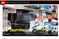 Ciężarówki używane jako broń. Tym razem w Sztokholmie