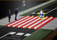 Budują aktywne przejścia dla pieszych