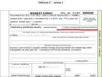 Płatność kartą: uzupełniony wzór mandatu