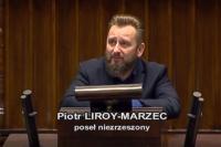 Piotr Liroy-Marzec w sprawie bezpieczeństwa pojazdów elektrycznych