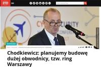 Będzie tzw. ring Warszawy