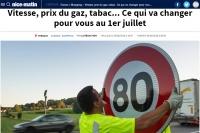Obowiązuje ograniczenie prędkości do 80 km/godz.