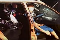 Narty w samochodzie – crash test