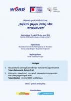 Majowe spotkanie branżowe - Wrocław (15.5)