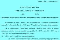 Zmiana rozporządzenia dot. nakładania mandatów
