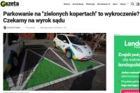 """Mandat za parkowanie na miejscu wyznaczonym dla """"elektryków"""""""