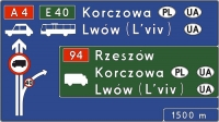 Wymiana znaków drogowych