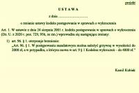Mandat do 2 i 4 tys. zł?