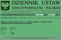 Od dziś mamy nowe przepisy (Dz. U. 2021, poz. 720)